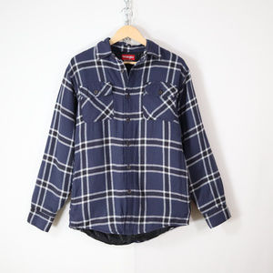 wrangler originals insulated plaid flannel shirt S